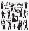 jazz band doodles vector image