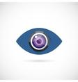 Eye Lens Abstract Concept Symbol Icon or Logo vector image