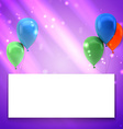 Colorful birthday background with place for text vector image