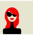 fashion woman portrait vector image vector image