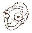 Hand Drawn Cartoon Man with a Mohawk vector image
