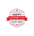My Valentine badge vector image vector image