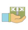 bill cash money in the hand vector image