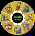 infographic set of garden tools vector image