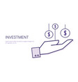 investment financial deposit money business vector image