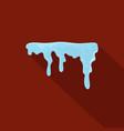 snowdrift icon flat style vector image