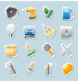 Sticker icons for industry vector image vector image