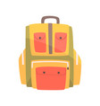 colorful backpack rucksack for school or travel
