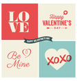 design elements valentine day set two vector image