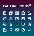 Fat Line Icons set 2 vector image vector image