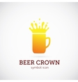 Beer Crown Concept Symbol Icon or Logo Template vector image