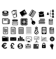 Business icons and symbols in flat style vector image vector image