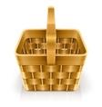 wooden weave basket vector image vector image