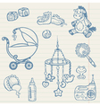 baby doodles vector image vector image