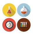 Biology design Lab icon Flat vector image