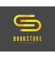 Abstract book logo template for branding vector image