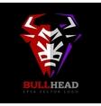 bull head logo vector image