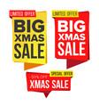 christmas sale banner set winter december vector image