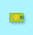 Flat Icon of Wallet vector image