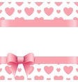Gift card with place for text Valentines day vector image