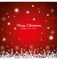 merry christmas happy new year shining stars vector image