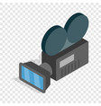 retro cinema camera isometric icon vector image