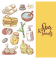 spa wellness beauty hand drawn design vector image