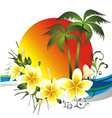 Tropical card vector image