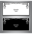 Two horizontal banner black and white hanging vector image