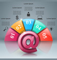 email and mail icon abstract 3d infographic vector image