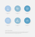 Set of 6 editable cleanup icons includes symbols vector image