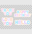 set of colorful stickers vector image