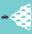 car cloud leadership concept vector image