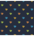 Scribble heart dark vector image