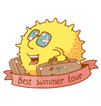 best summer tour vector image