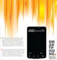 business brochure smartphone booklet template vector image vector image