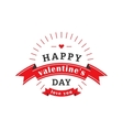 Valentines day label vector image