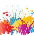grunge paint splat background vector image