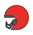 football helmet cartoon vector image