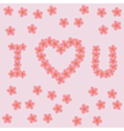 letters i love u vector image