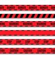 Set of warning tapes vector image