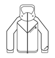 winter jacket icon vector image