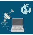 World satellite TV vector image