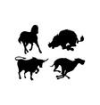 Wildlife Silhouettes vector image