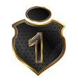 shield with number vector image