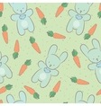 Seamless background with a picture of cute rabbits vector image