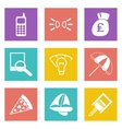 Color icons for Web Design set 36 vector image vector image