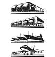 Large cargo transportation vector image