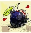 stylized plum vector image vector image