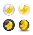 banana button set web 20 icons vector image